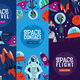 Space Travel Vertical Banners
