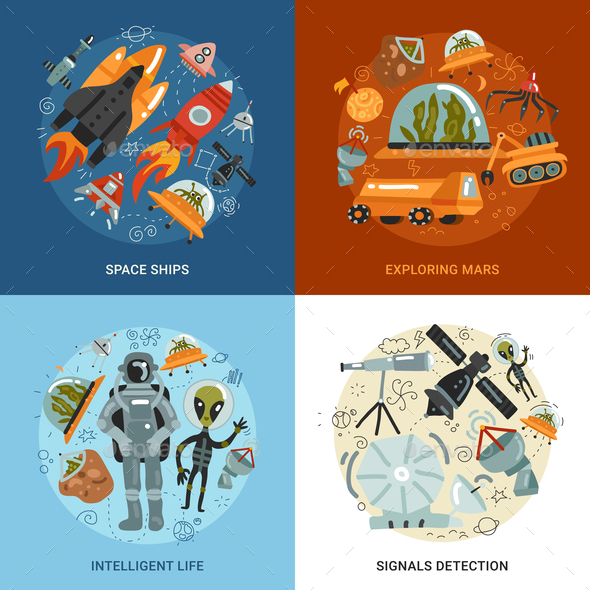GraphicRiver Space Exploration 2x2 Design Concept 21203493