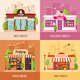 Stores Facades 2x2 Design Concept