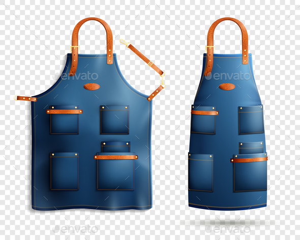 GraphicRiver Realistic Aprons Transparent Background Set 21203502