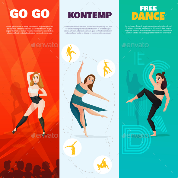 GraphicRiver Modern Dances Vertical Banners 21203511