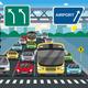 Red Traffic Light Flat Illustration
