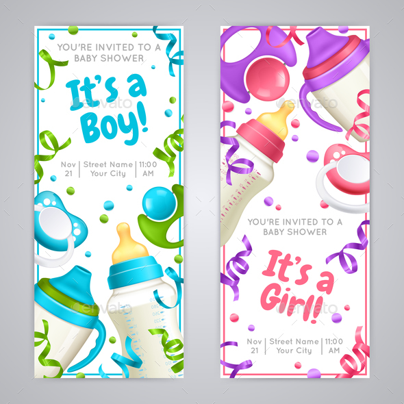 GraphicRiver Baby Shower Vertical Banners 21203516