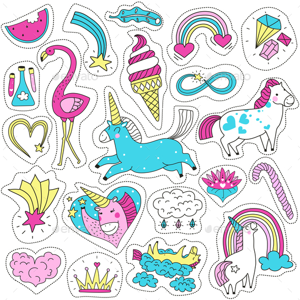 GraphicRiver Magic Patches Set 21203532