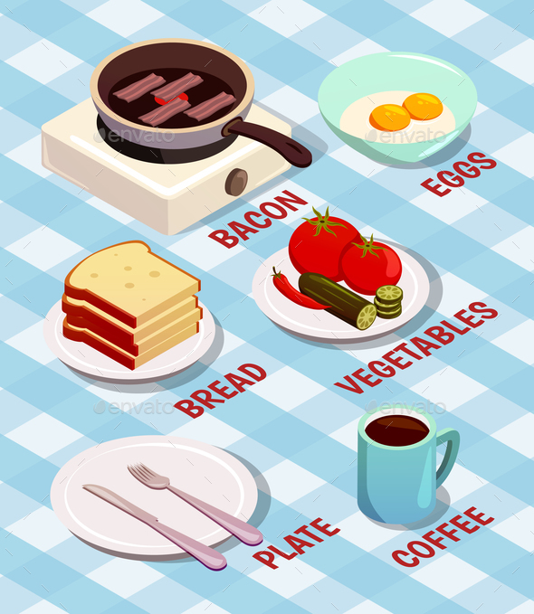 GraphicRiver Food Cooking Isometric Composition 21203545
