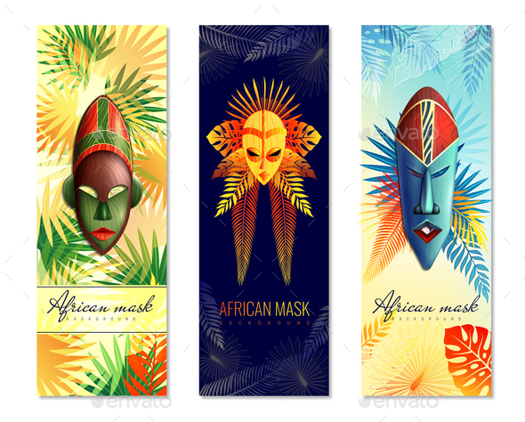 African Festive Vertical Banners - Religion Conceptual