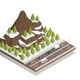 Winter Mountains Landscape Isometric composition