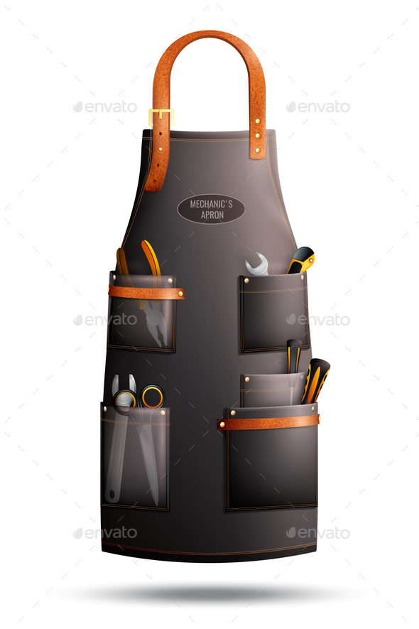 GraphicRiver Realistic Apron For Mechanic 21203561