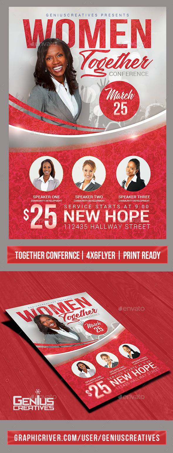 Church Event or Women\'s Conference Flyer Template by GeniusCreatives