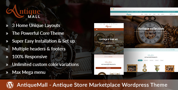 AntiqueMall - Antique Store Marketplace WordPress Theme - Retail WordPress