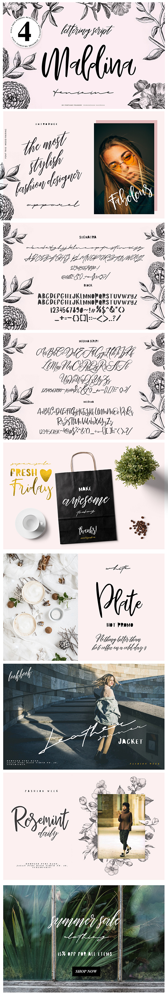 GraphicRiver Maldina Feminime 4 fonts 21203658