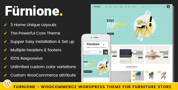 Furnione - WooCommerce WordPress Theme for Furniture Store - Retail WordPress