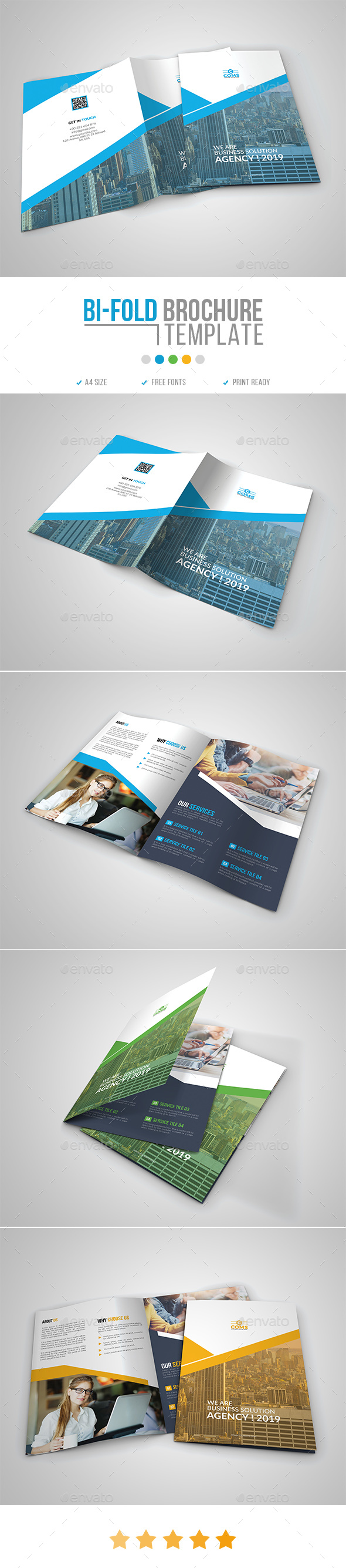 Corporate Bi-Fold Brochure Template 14 - Corporate Brochures