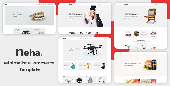 Image of Neha - Minimalist eCommerce  Template