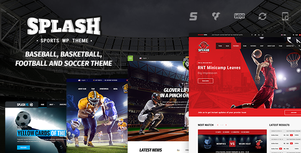 Splash - WordPress Sports Theme for Basketball, Football, Soccer and Baseball Clubs
