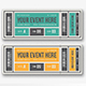 Vintage Event Ticket Vol.2 - GraphicRiver Item for Sale