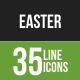 35 Easter Green & BlackLine Icons