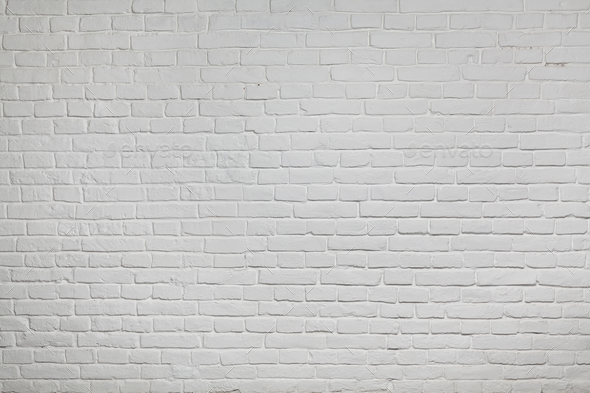 Old white brick wall background texture - Stock Photo - Images