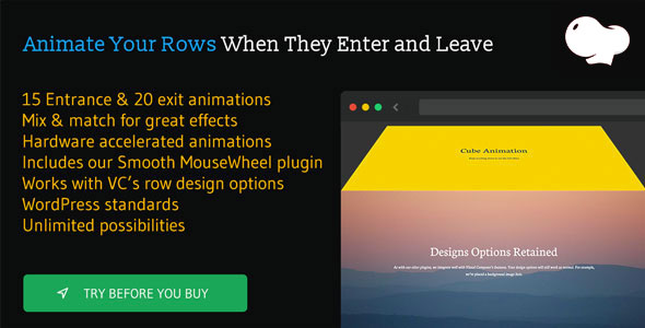 Row Scroll Animations for WPBakery Page Builder (formerly Visual Composer) - CodeCanyon Item for Sale