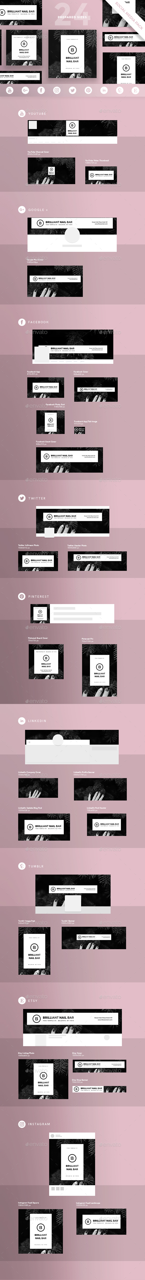 Nails Bar Social Media Pack - Miscellaneous Social Media