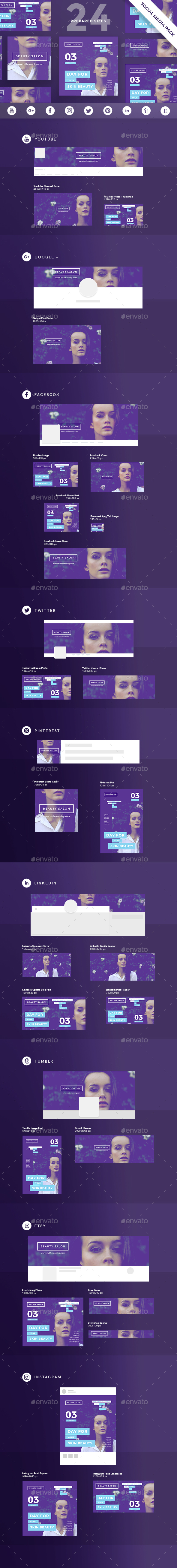 Beauty Salon Social Media Pack - Miscellaneous Social Media