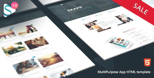 Skapp - App HTML Template