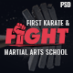 Fight - Karate/Martial Arts School PSD Template - ThemeForest Item for Sale