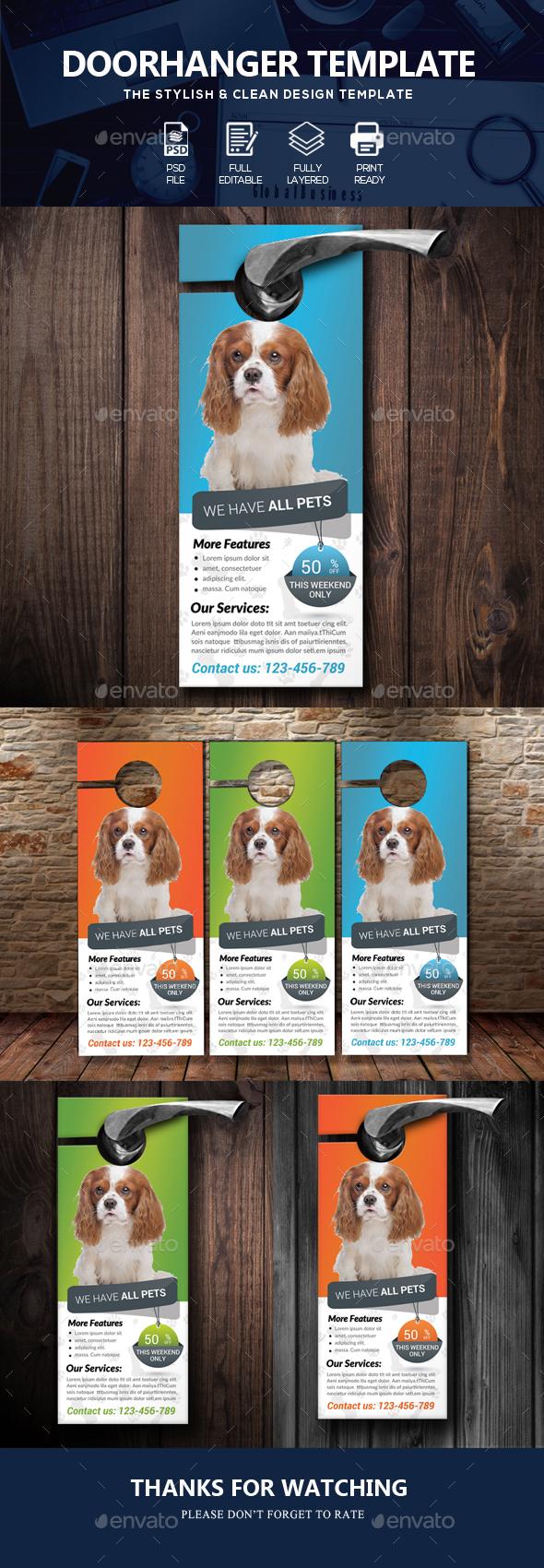 Pet Shop & Care Centre Door Hanger - Miscellaneous Events