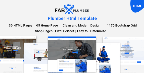 Image of Fab Plumber | Plumber, Construction, Interior HTML5 Template