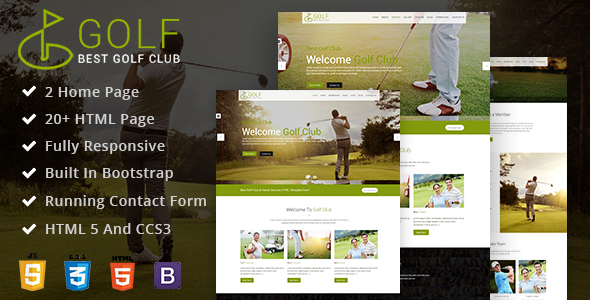 ThemeForest Golf Club Golf Course Html Template 21119841