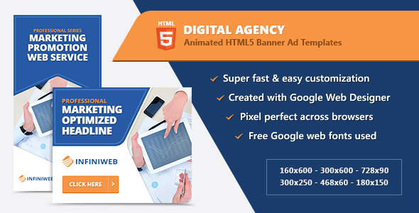 CodeCanyon HTML5 Animated Banner Ads Digital Agency GWD 21204286