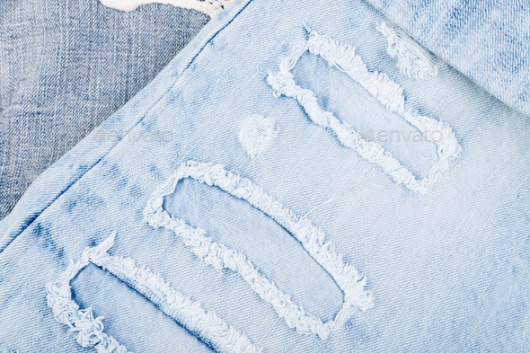 Jean background. Denim blue jean texture. Concept for fashion. - Stock Photo - Images