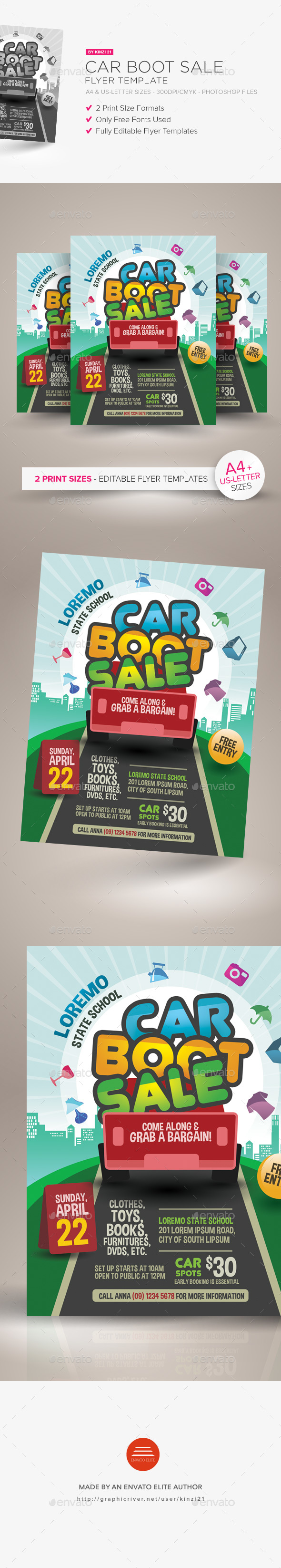 Car Boot Sale Flyer Template - Miscellaneous Events