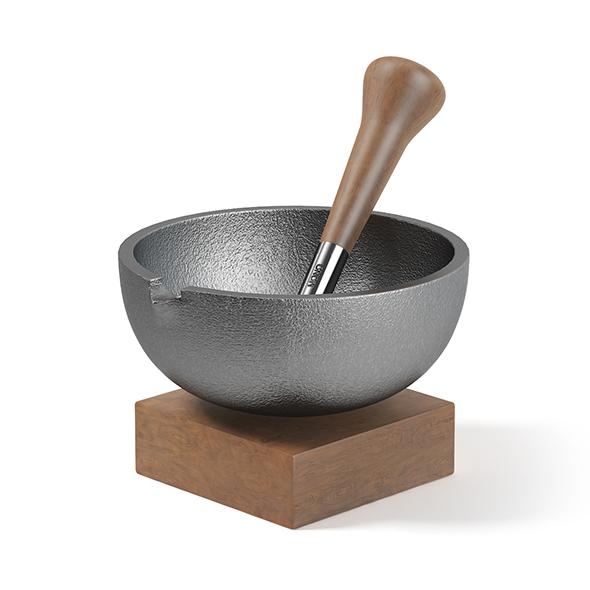 Kitchen Mortar 3D Model - 3DOcean Item for Sale