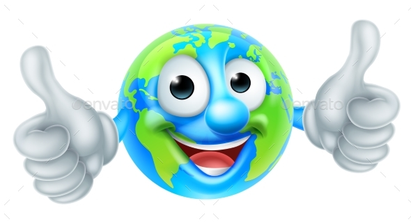GraphicRiver Cartoon World Earth Day Globe Character 21204801