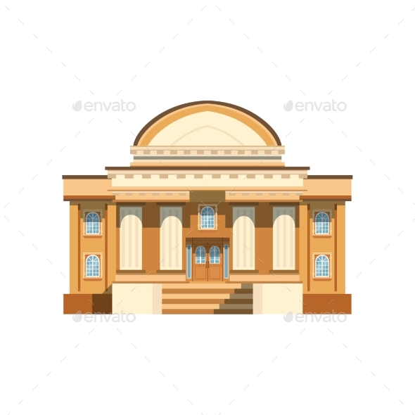 GraphicRiver Public Building Facade Theatre Bank or Shop 21204892