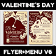 Valentines Day Flyer + Menu Bundle V6 - GraphicRiver Item for Sale