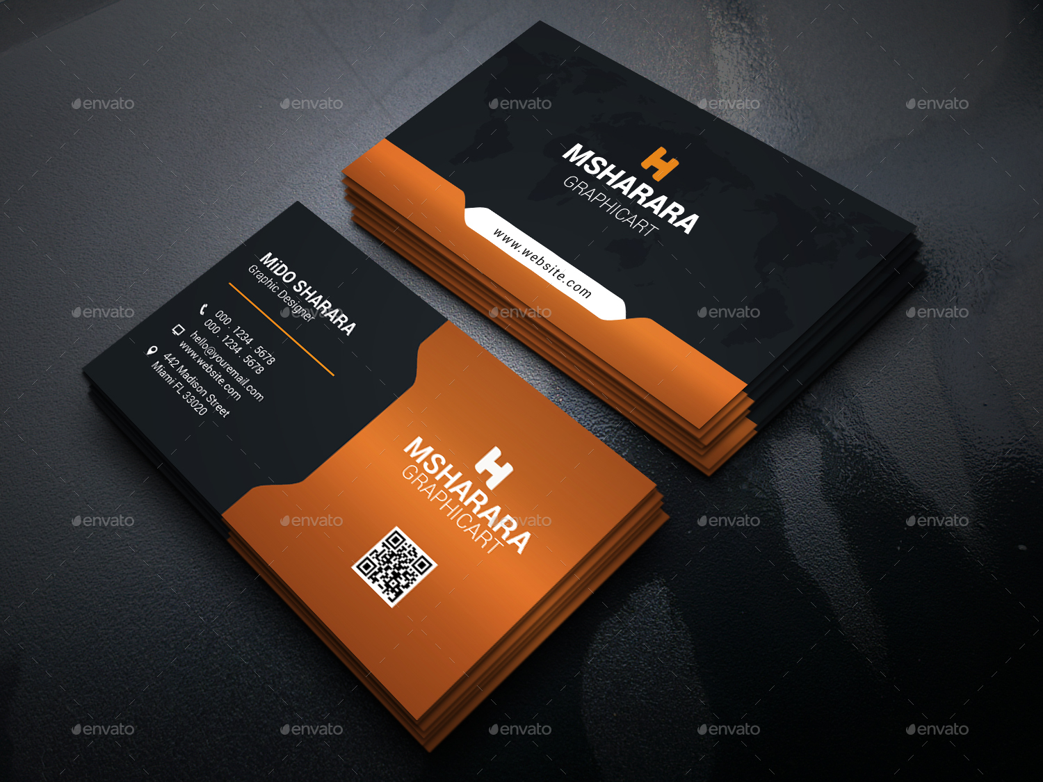 Corporate Business Card by Alpha-Designs | GraphicRiver