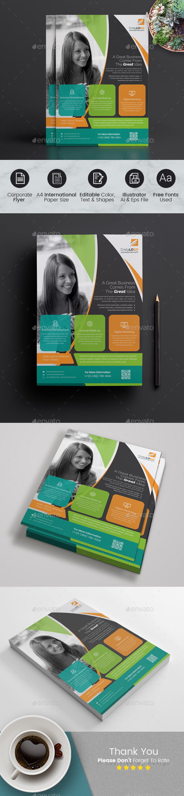 GraphicRiver Corporate Flyer Template 21033506