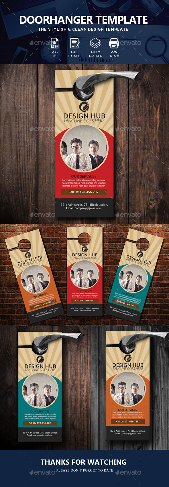 Business Door Hanger Templates - Miscellaneous Events