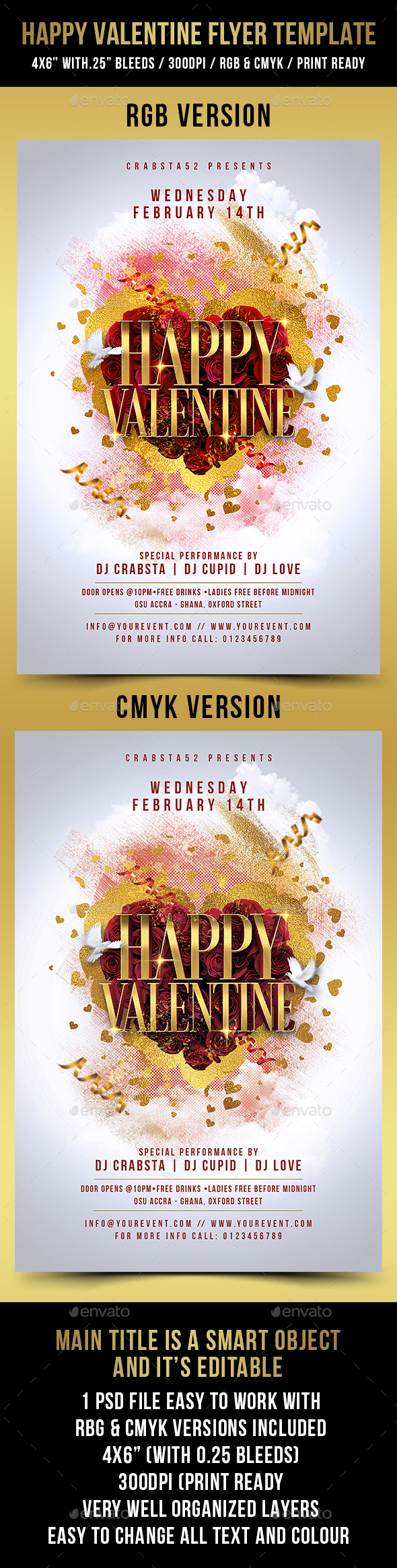 Happy Valentine Flyer Template - Events Flyers