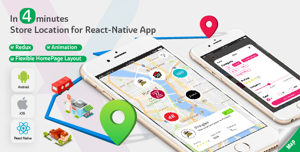 Store Locator - Complete React Native template for iOS and Android. - CodeCanyon Item for Sale
