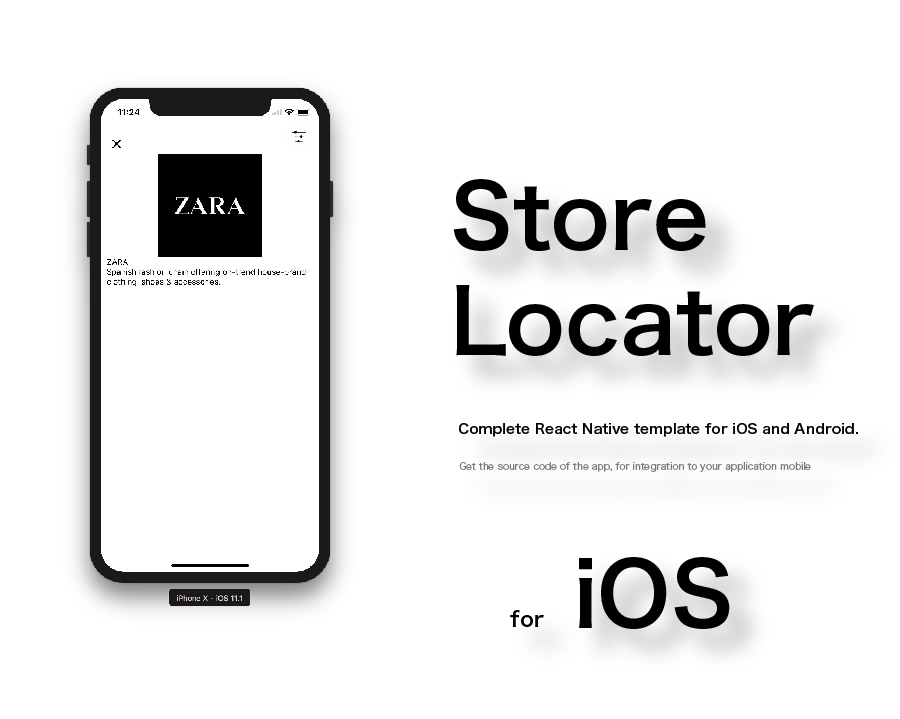 store locator complete react native template for ios and android by positifmobile. Black Bedroom Furniture Sets. Home Design Ideas