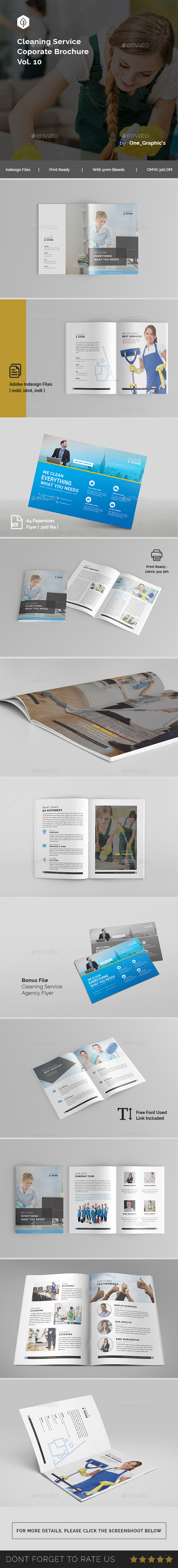 Cleaning Services Brochure Template - Brochures Print Templates