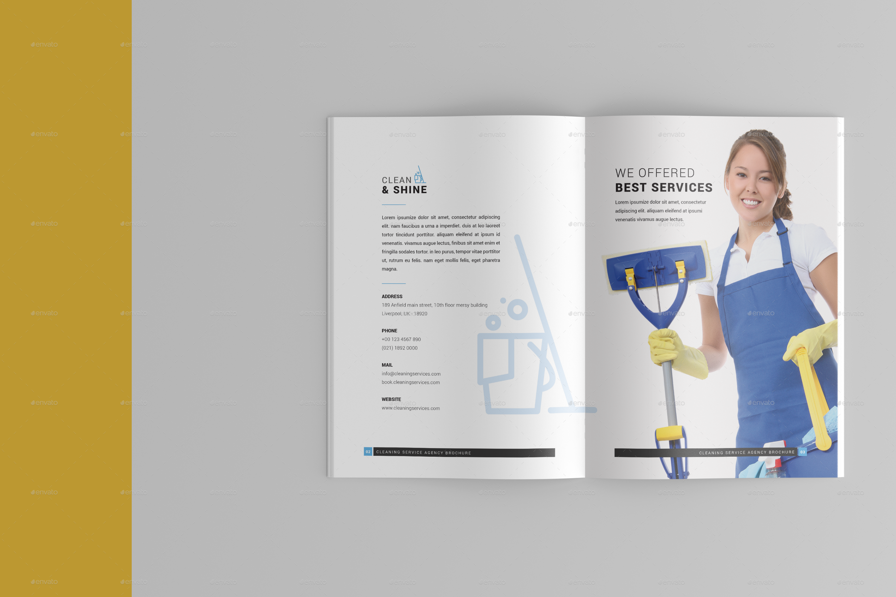 Cleaning Services Brochure Template by one_graphics | GraphicRiver