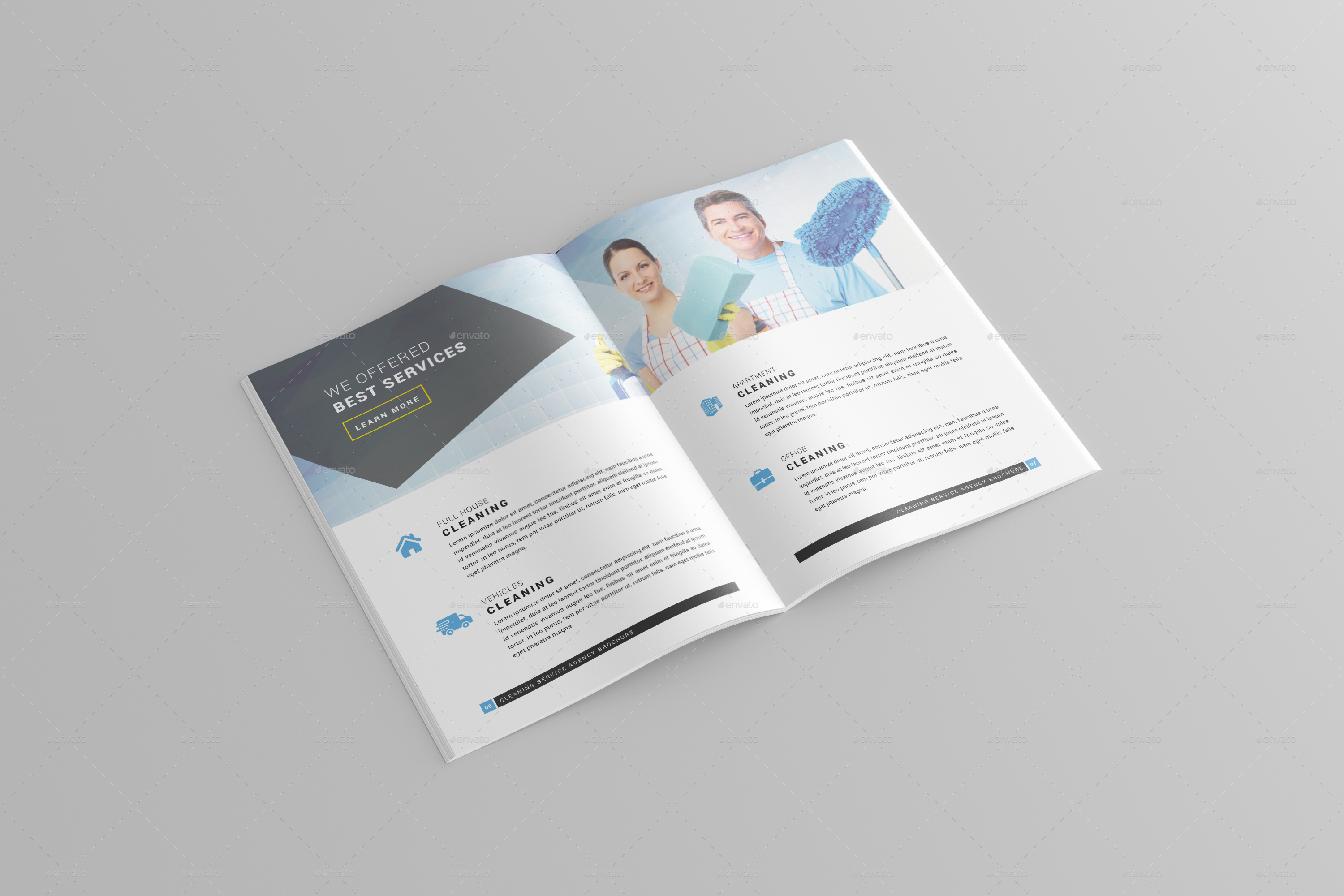 Cleaning Services Brochure Template By Onegraphics GraphicRiver - Cleaning service brochure templates