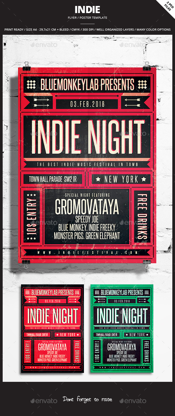 Indie Flyer / Poster 22 - Events Flyers