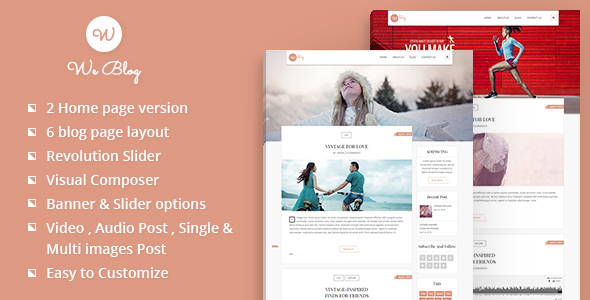 We Blog WordPress Theme - Blog / Magazine WordPress