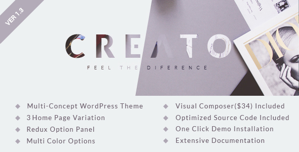 Creato - Parallax WordPress Theme - Creative WordPress