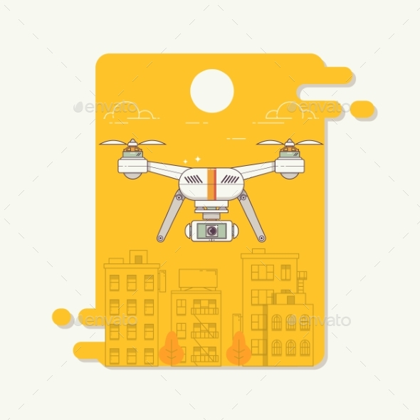 GraphicRiver Drone and Camera 21205425